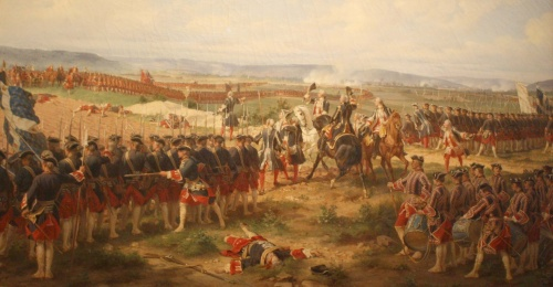 The Battle of Fontenoy, 1745 at which Phoebe Hessel was wounded, painted 