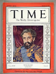 Time Magazine, 6 January 1936.  Being named 'Man of the Year' by this influential US magazine led to Selassie being awarded iconic status as 'victim of fascism'.