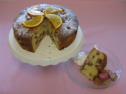 ORANGE & RHUBARB CAKE recipe