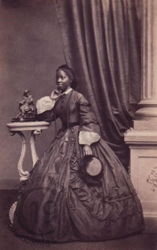 Sarah Forbes Bonetta. Portrait photograph by Camille Silvy, 1862.  Captain Forbes wrote in his journal: Of her own history she only has a confused idea. Her parents were decapitated; her brother and sisters she knows not what their fate might have been.
