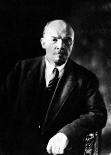 Vladimir Lenin, leader of the Bolshevik Party and the October Revolution of 1917, photographed here during the civil war, in 1920 (Wikimedia Commons)