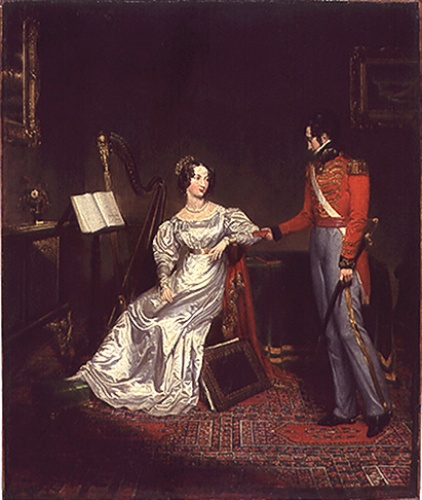 The Betrothal of Princess Charlotte and Prince Leopold c1816. Brighton Royal Pavilion and Museums